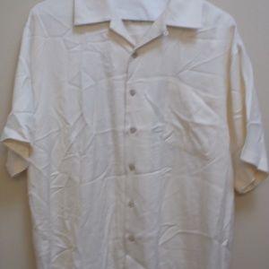 Mens Cream Short Sleeve Tommy Bahama Shirt
